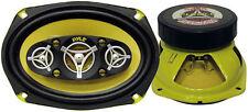 Pair New Pyle Plg69.8 6'' x 9'' 500 Watt Eight-Way Speakers Car Audio