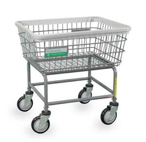 ANTI-MICROBIAL COMMERCIAL HEAVY DUTY WIRE LAUNDRY BASKET CART! NEW!
