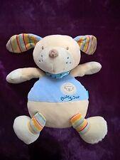 peluche Doudou chien bubbly crew vibrant blanc bleu 30cm baby sun