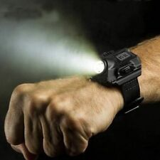 New Tactical Rechargeable LED Flashlight Wristlight Waterproof Wrist Light Lamp