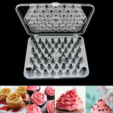 52pcs Icing Piping Pastry Fondant Cake Decorating Sugarcraft Nozzle Tip Tool Set