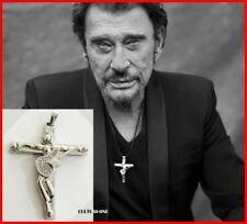 JOHNNY HALLYDAY PENDENTIF CROIX & GUITARE - L'ORIGINAL ! Collection JH / COLLIER