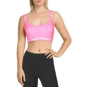 Under Armour Womens Pink Fitness Workout Sports Bra Athletic L BHFO 1517