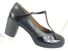 New listing Shoes for Crews Womens 10 M Black Leather Slip Resistant Work Shoes T Strap Shoe
