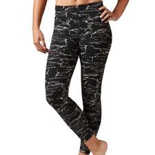Pantaloni da donna neri Reebok per palestra, fitness, corsa e yoga