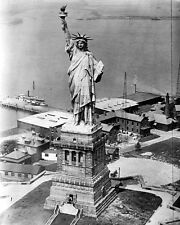 New 8x10 Photo: Statue of Liberty From an Army Plane, New York Harbor
