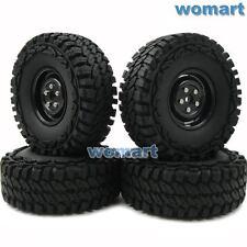 4pcs RC 1/10 115mm Tires & 1.9'' Hex 12mm Wheels For Rock Crawler Truck Upgrade