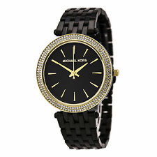 Michael Kors MK3322 Women's Black Dial Black Steel Bracelet Watch
