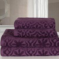 Highams 100% Egyptian Cotton Luxury Jacquard Velour 4 Piece Bath Towel Bale Set