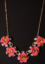"""Betsey Johnson Gold-Tone Crystal Floral Statement Necklace, 15"""" + 3"""" extender"""