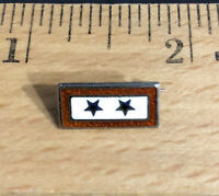 WWII US Blue Star Mother Sweetheart Sons In Service Lapel Pin Sterling 2 Stars