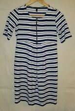 Isabella Oliver Maternity Dress Striped Blue White Size 1 Zipper 4 US