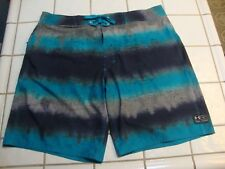 UNDER ARMOUR BOARD SHORTS STRIPED MULTI COLORED SURF SWIM TRUNKS MENS SIZE 40