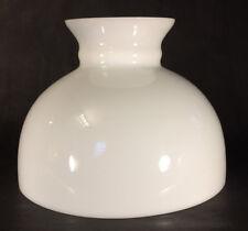 """New 10"""" Fitter Opal Milk Glass Kerosene Oil White Student Table Desk Lamp Shade"""