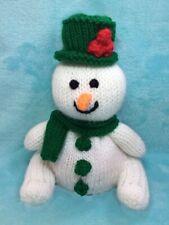 Tejer patrón-Frosty the Muñeco De Nieve Olaf Frozen Navidad Chocolate En Blanco