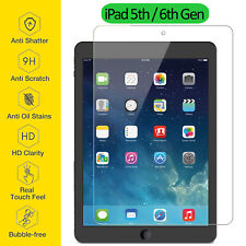 Tempered Glass Film Screen Protector Ultra Thin Clear For Apple iPad 5th 6th Gen