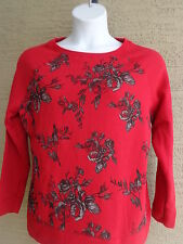 New Just My Size 5X Graphic 50/50 Blend Cozy Lighter Weight Sweatshirt Red