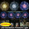 Firework LED Copper Wire Fairy String Light Christmas Party Decor 8 Modes Remote