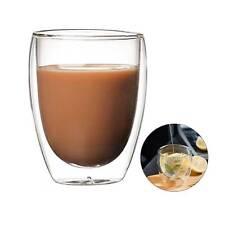 4PCS Heat Resistant Double Wall Clear Glass Tea Drinkware Coffee Mug Cup 350ml