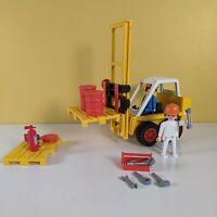 Vintage Playmobil forklift truck excavator 3506-A 1980 Geobra & accessories
