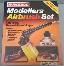 Humbrol Modellers Airbrush Set includes original sleeve/box & compressed air