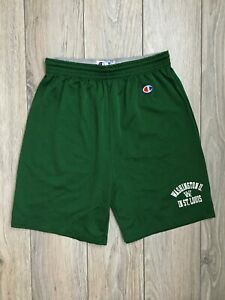 Champion Washington University in St. Louis Vintage Mesh Gym Shorts Green size M