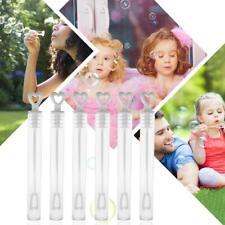 100pcs Plastic Heart Wand Tube Wedding Party Favors Soap Water Bubble Bottle Toy