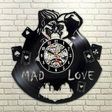 Joker And Harley Quinn Vinyl Wall Clock Record Love Suicide Squad Gift Mad Love