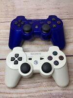 Lot Of 2 Genuine Sony Playstation PS3 DualShock 3 Wireless Controllers