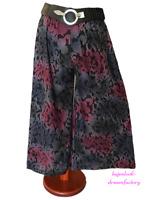 My Obsession-Lagenlook Culotte Marlene-Hose 7/8 Hosenrock Fetzen-Look XL-2XL-3XL