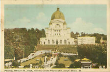 1948 P.Q. Postmark Pilgrims At Saint Joseph Shrine Montreal Canada Postcard