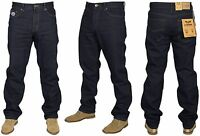 Mens Big Tall King Size Jeans Dark Wash Blue Straight Leg Denim Trouser Pants