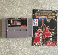 SNES Tecmo Super NBA Basketball Nintendo Cartridge w/ Manual Cleaned & TESTED