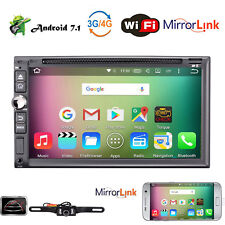 Android7.1 Double 2 Din Car Radio Stereo DVD Player GPS WiFi 4G Navigation 1080P
