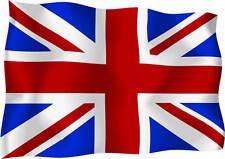 """GB UK Union Jack Wavy Flag Car Van Scooter Exterior Vinyl Decal - 12"""" x 9"""" x 2"""