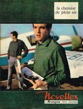 I - Publicité Advertising 1963 Vetement chemise pour homme Noveltex