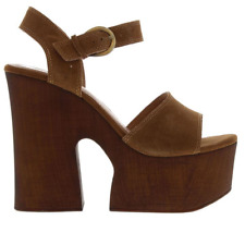WINDSOR SMITH JADE HEELED SHOES - SUEDE - TOBACCO (BROWN) - SIZE 4.5 – BNIB
