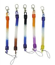 Tone multi Coloured Stretchy Spring Retractable Extending Keyring