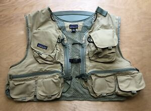 Vintage Patagonia Fly Fishing Vest Pockets Mesh Size XL