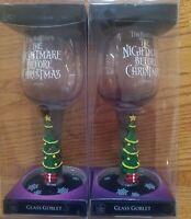 Lot of (2) Disney Tim Burton's The Nightmare Before Christmas Wine Glass NEW