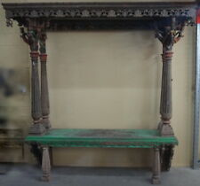 Temple Altar Canopy 4Pillar 260x220x60cm - a rare and collectable antique piece