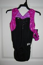 Gk Elite Gymnastics Leotard - Adult X-Small - Black