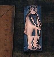 MANN Galvano Druckplatte Klischee Eichenberg printing plate copper print
