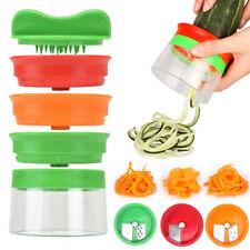 3 in1 Spiralschneider Gemüseschneider Zerkleinerer Gemüsespaghetti Spiral Slicer