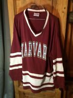Vintage 80s 90s Harvard Jersey Rugby Hockey Yacht Red College Boston Cotton L XL