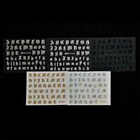 5x 3D Alphabet Laser Charakter Brief Nagel Aufkleber Wasser Transfer 3D K2D S1R0
