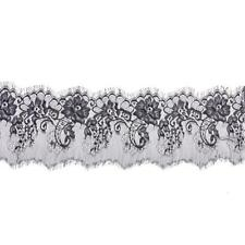 3 Yards Eyelash Lace Trims Sewing Applique for Dress Making 15cm Wide Black