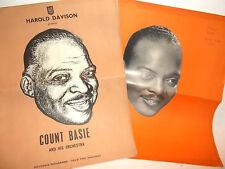 COUNT BASIE-SET OF 2 SOUVENIR  PROGRAMMES  CONCERTS LONDON 1950'S