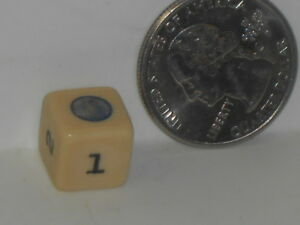 Vtg. Color Dot and Numbered Cube?? Game Pieces