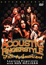 ArtsMagic ACOUSTIC FINGERSTYLE Guitar FOLK & AMERICANA Lessons DVD Max Milligan